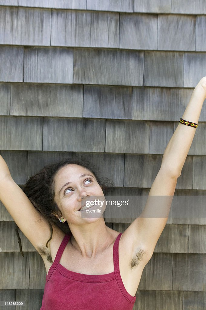 Girls with hairy armpits candid