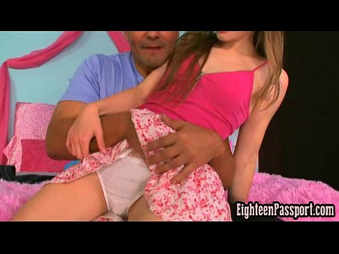 Hands in tight pussy under panties